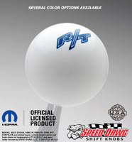 White R/T Logo Shift Knob with Dark Blue Graphics