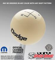 Vintage Dodge Logo Shift Knob with Engraved Pattern