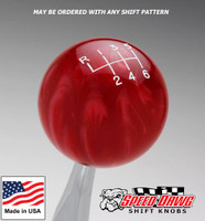 Red Pearl Shift Knob with Engraved Shift Pattern