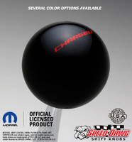 Charger Shift Knob Black with Red graphics