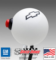 Chevy Bowtie Shift Knob with Line Lock / NOS Button