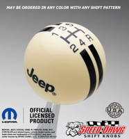 Ivory shift knob with Black graphics