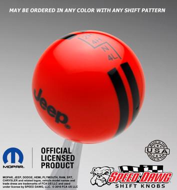 Go Mango Orange shift knob with Black graphics