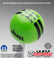 Go Green shift knob with Black graphics