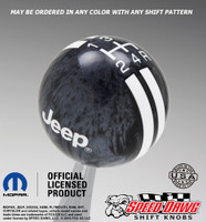 Black Pearl shift knob with White graphics