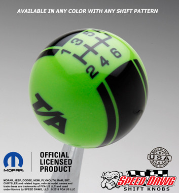 Go Green T/A Logo shift knob with Black graphics
