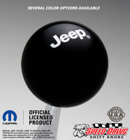 Jeep Logo Shift Knob Black with White graphics