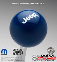 Jeep Logo Shift Knob Dark Blue with White graphics