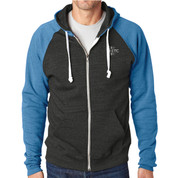ETC Fleece Full Zip Hoodie - Grey/Royal