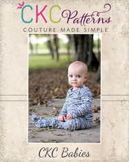 David's Baby Knit Shirt and Footed Pants Set PDF Pattern