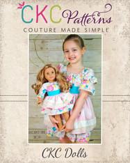 Embry's Apron Peasant Dress Doll Sizes PDF Pattern