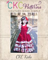 Alejandra's Ruffled Maxi Dress Sizes 6/12m to 8 Girls PDF Pattern