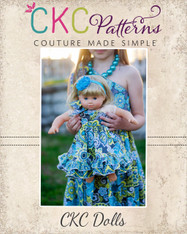Aria's One Shoulder Top, Dress, and Maxi Doll Sizes PDF Pattern