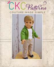 Charles' Prince Jacket and Patrick's Dress Pants Doll Sizes PDF Pattern