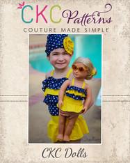 Pearl's Dolls One-Piece Swimsuit PDF Pattern