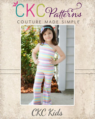 Analise's Knit Romper Sizes 2T to 14 Girls PDF Pattern