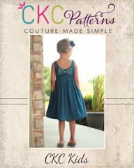 Amy's Knit Bow Dress and Maxi PDF Pattern