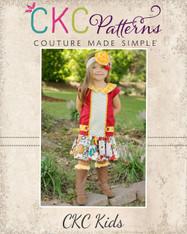 Della's Drop Waist Panel Dress and Tunic PDF Pattern