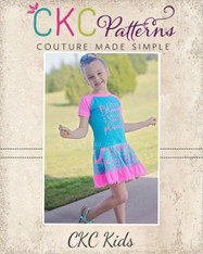 Ady's Paneled Pocket Dress Sizes 2T to 8 Girls PDF Pattern