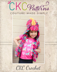 Arwen's Animal Hooded Scarf Crochet PDF Pattern