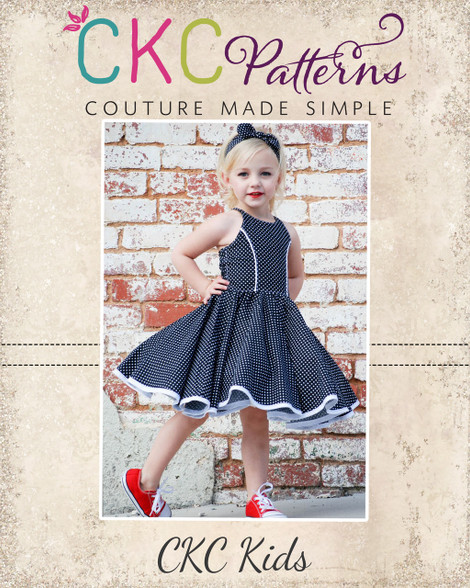 Sandra Dee's Rockabilly Swing Dress PDF Pattern Simple Ckc Patterns