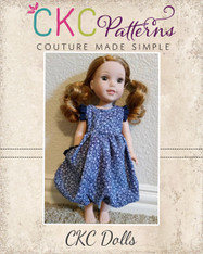 Alexis' Doll Bubble Dress with Pleats PDF Pattern