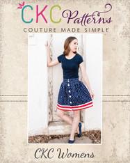 Bentlee's Button-Up Skirt Sizes XXS-4X Women PDF Pattern