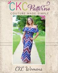 Marina's Women's Ruffle Crop, Top, Dress and Maxi PDF Pattern