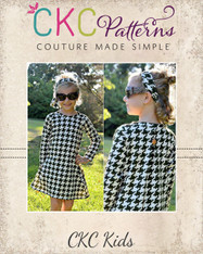Carsyn's Fleece and Knit Back Pleat Dress PDF Pattern