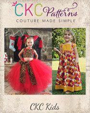 Amabella's Crop Top, Dress and Maxi Sizes 2T to 14 Girls PDF Pattern