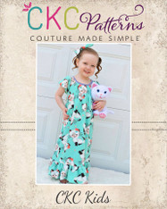Aurora's Adorable Fleece Nightgown Sizes 2T to 14 Girls PDF Pattern