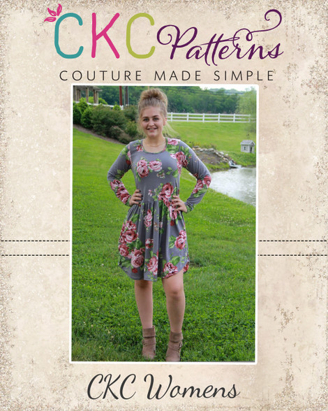 Deborah's Women's Classic Knit Top And Dress PDF Pattern Stunning Ckc Patterns