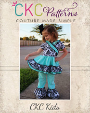 Adorabella's Crossover Dress, Tunic, and Pants Set Sizes 2T to 14 Girls PDF Pattern