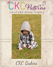 Lincoln's Baby Hooded Woven Romper PDF Pattern