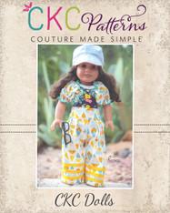 Whitley Wide Leg Bottoms and Valerie Shirred Bolero Doll Sizes PDF Pattern