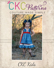 Amorette's Lovely Knot Dress Sizes 2T to 14 Girls PDF Pattern