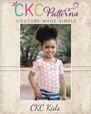 Aszy's Asymmetrical Shirt Sizes 2T to 14 Girls PDF Pattern