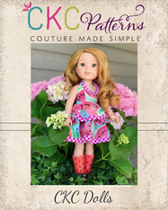 Daisy's Petal Collar Dress & Top Doll Sizes PDF Pattern