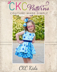Lillian's Little Split Skirt Dress PDF Pattern