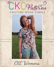 Kenna's Knotted Top sizes XXS to 3X Women PDF Pattern