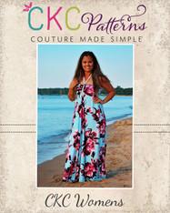 Malone's Women's Halter Dress and Maxi PDF Pattern