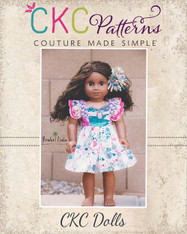 "Michelle's Dress and Top Sizes 15"" and 18"" Dolls PDF Pattern"