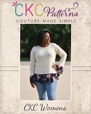 Selma's Layered Top Sizes XXS-3X Women PDF Pattern