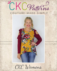 Jayla's Cold Shoulder Tunic Sizes XXS to 3X Women PDF Pattern