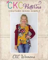 Jayla's Cold Shoulder Tunic Sizes XXS-3X Women PDF Pattern