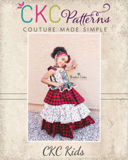 Genne's Triple Ruffle Party Skirt sizes 2T to 14 Girls PDF Pattern