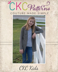 Calliope's Comfy Cardi sizes 2T to 14 Girls PDF Pattern