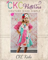 Violette's Swirly Peasant Dress PDF Pattern