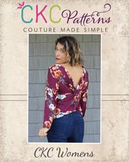 Veronica's Twisted Back Top Sizes XXS to 3X Women PDF Pattern