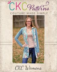 Casey's Hooded Raglan Cardigan sizes XXS to 3X Women PDF Pattern